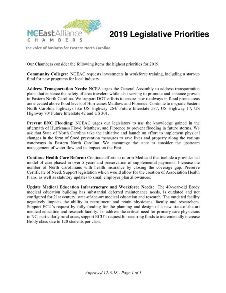 thumbnail of 2019 NCEAC Legislative Agenda 12-6-18